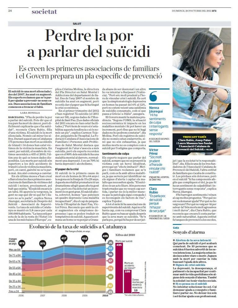 Perdre la por a parlar del suïcidi
